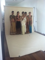 Backstage shooting the front cover of Asian Woman